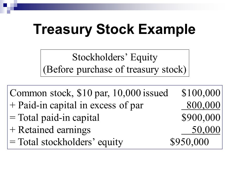 Retained Earnings, Treasury Stock, and the Income Statement - ppt