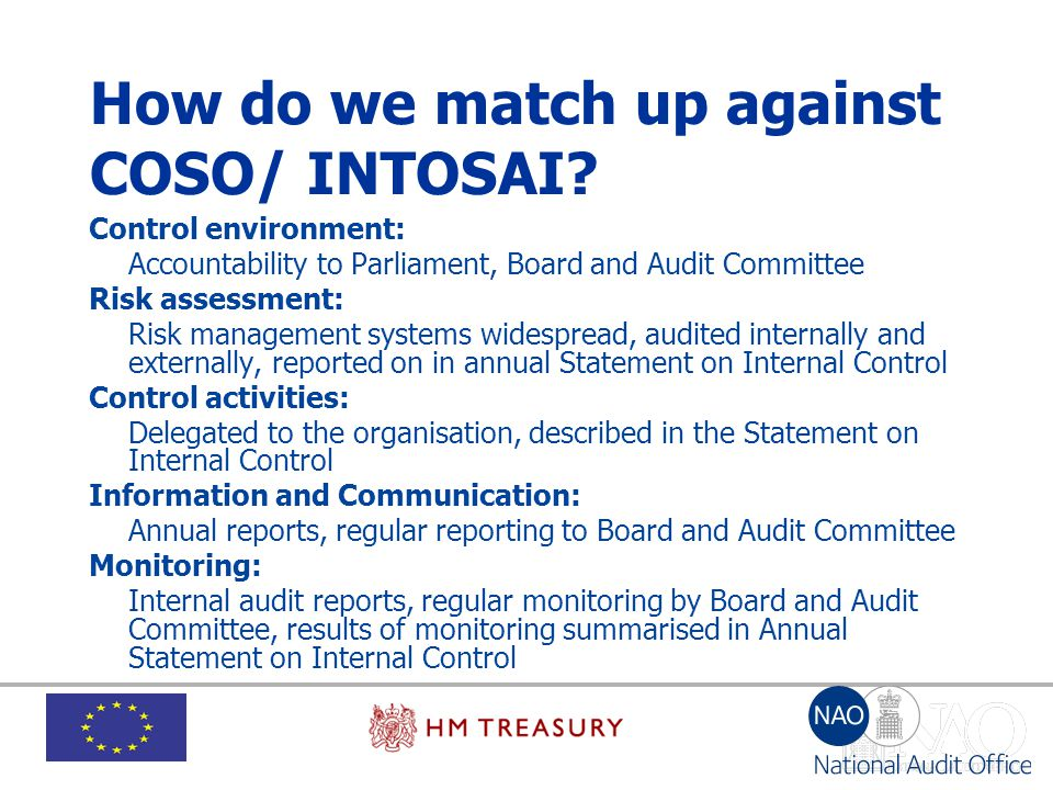 How do we match up against COSO/ INTOSAI