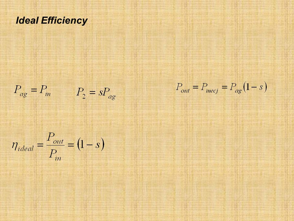 Ideal Efficiency