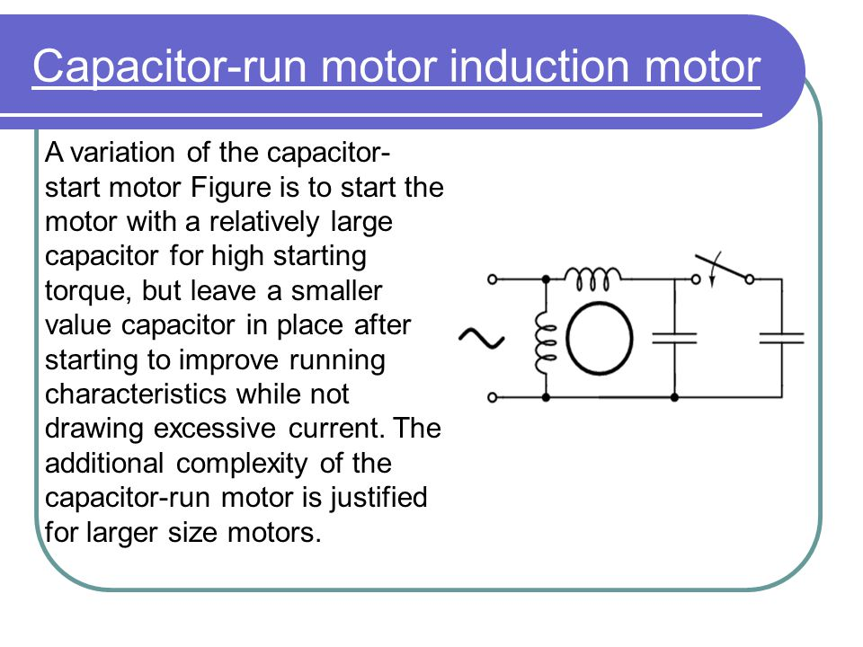 Capacitor-run motor induction motor