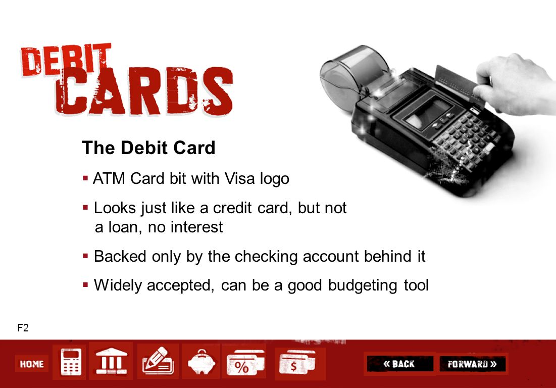 The Debit Card ATM Card bit with Visa logo