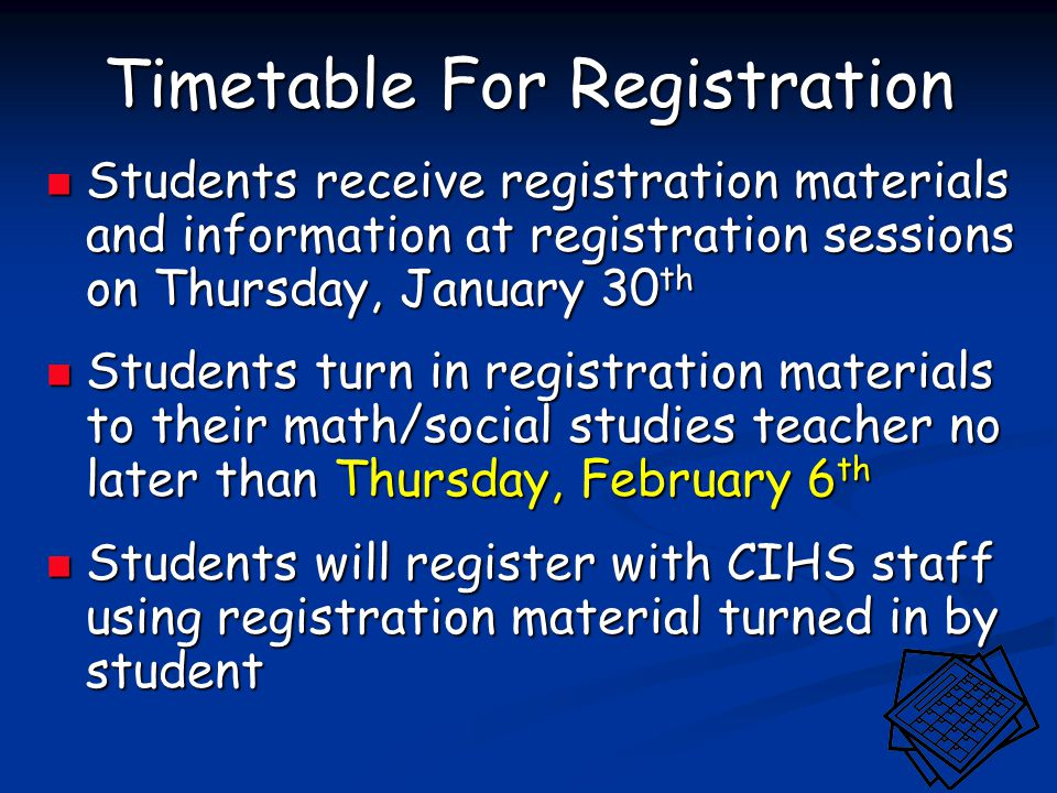 Cambridge-Isanti High School Registration - ppt download