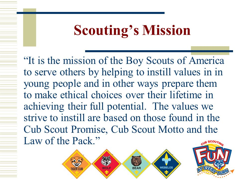 Scouting's Mission