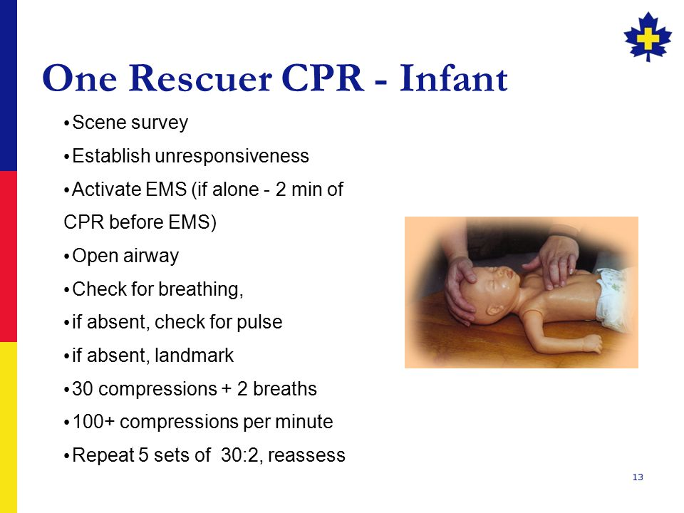 One Rescuer CPR - Infant