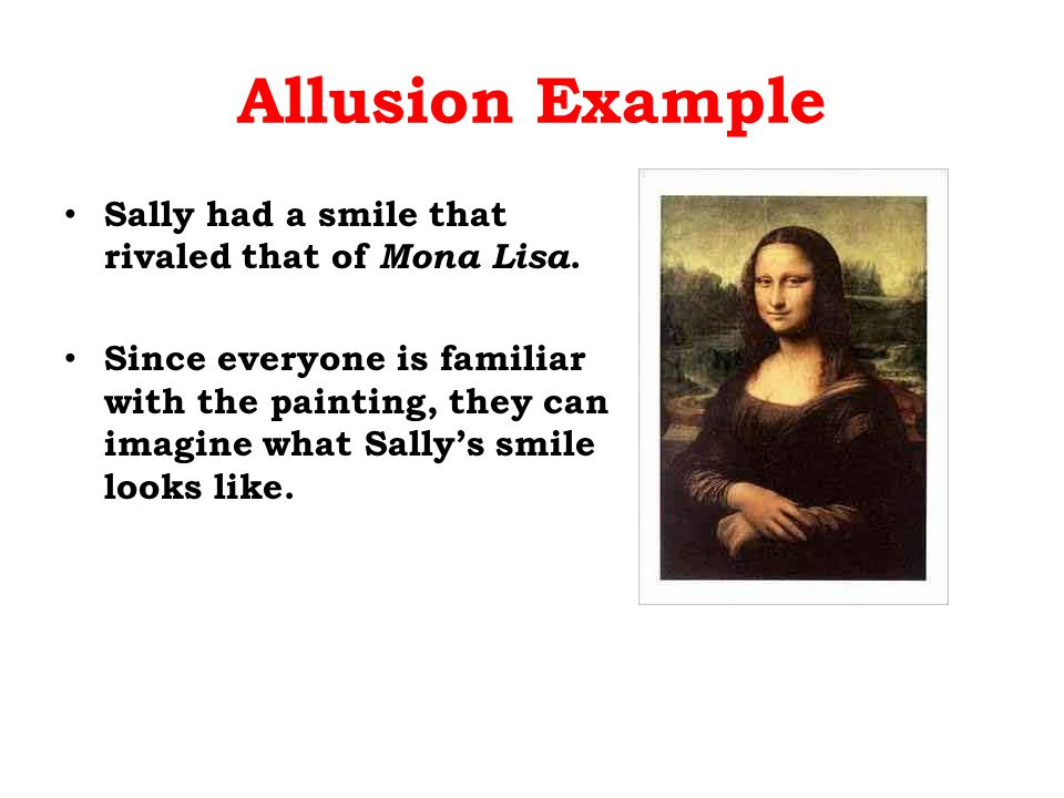 Examples of allusion.
