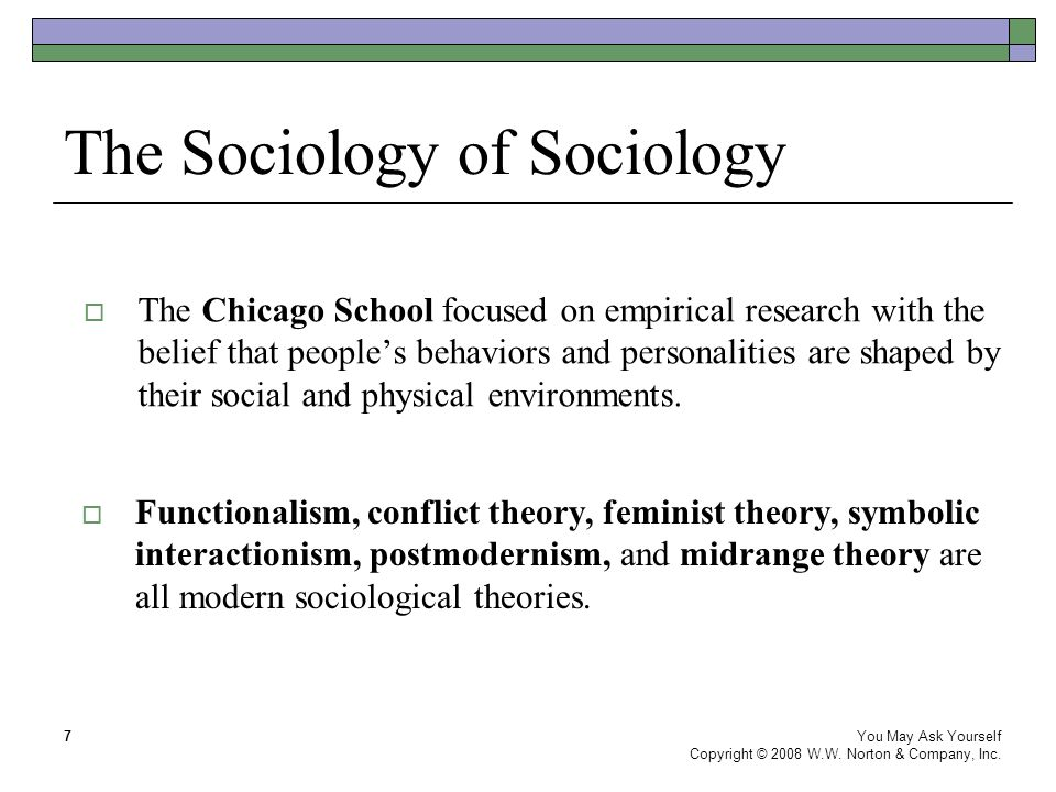The Sociology of Sociology