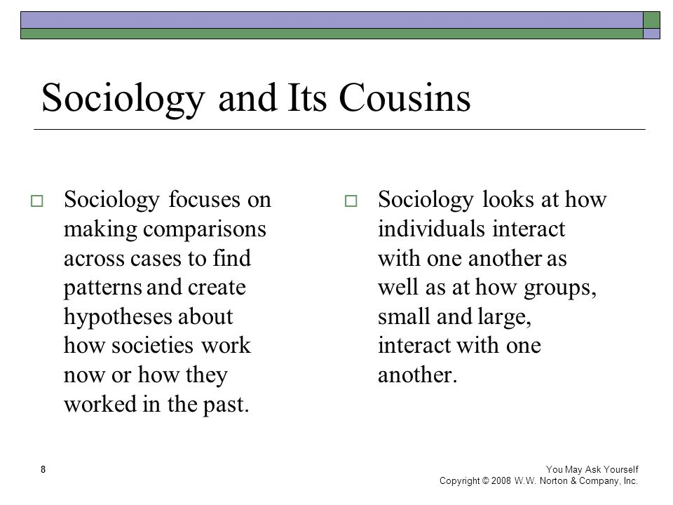 Sociology and Its Cousins