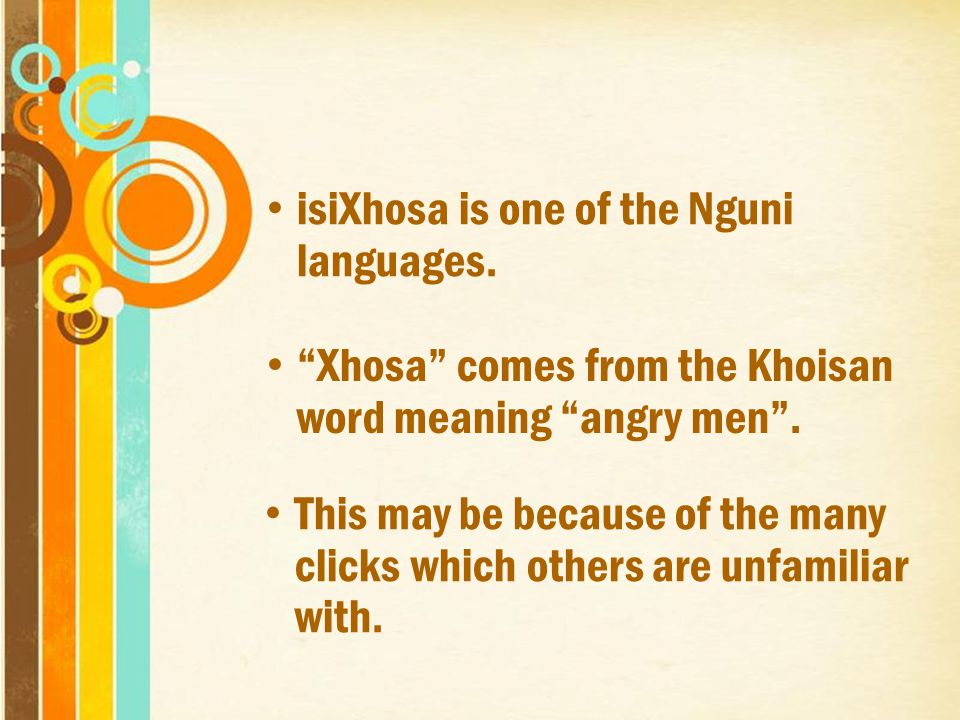 Traditional Xhosa Culture Free Powerpoint Templates Ppt Video