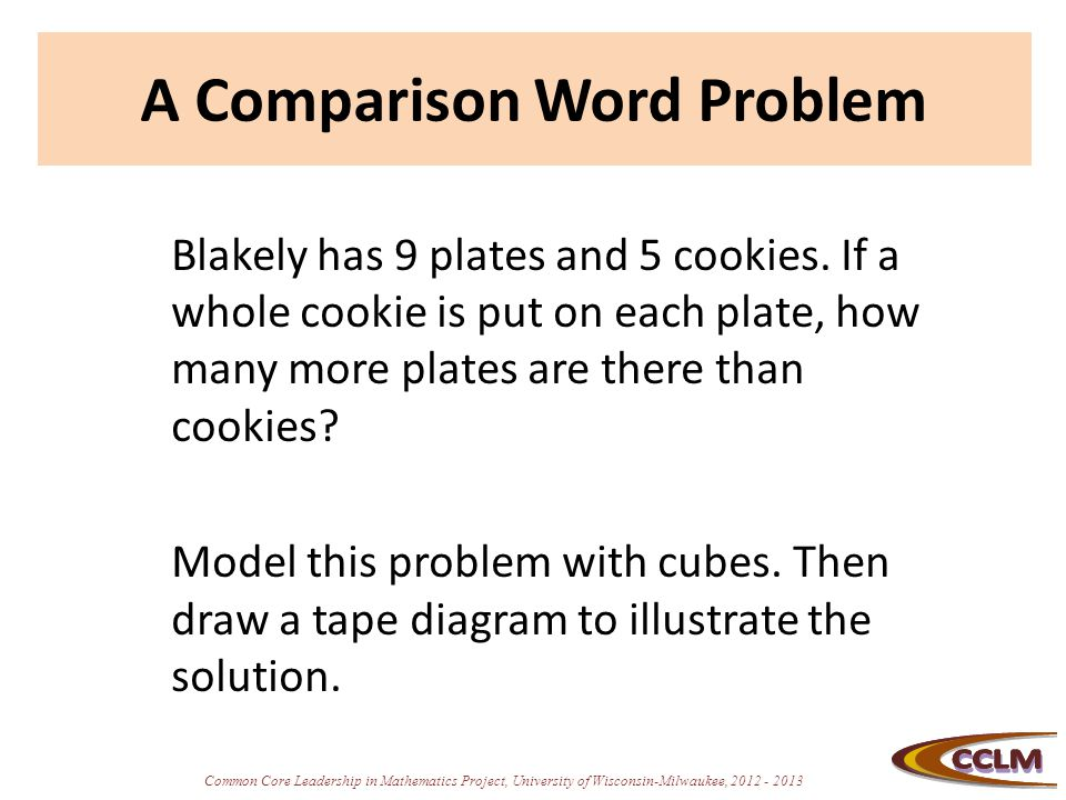 Comparison situations and tape diagrams ppt video online download a comparison word problem ccuart Choice Image