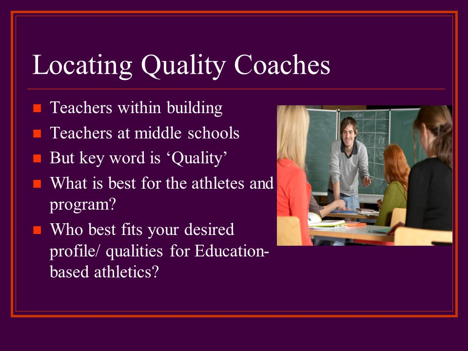 Locating Quality Coaches
