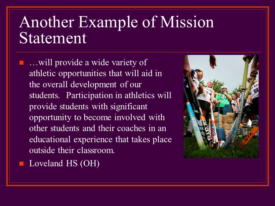 Another Example of Mission Statement