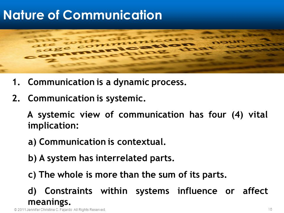 systemic nature of communication