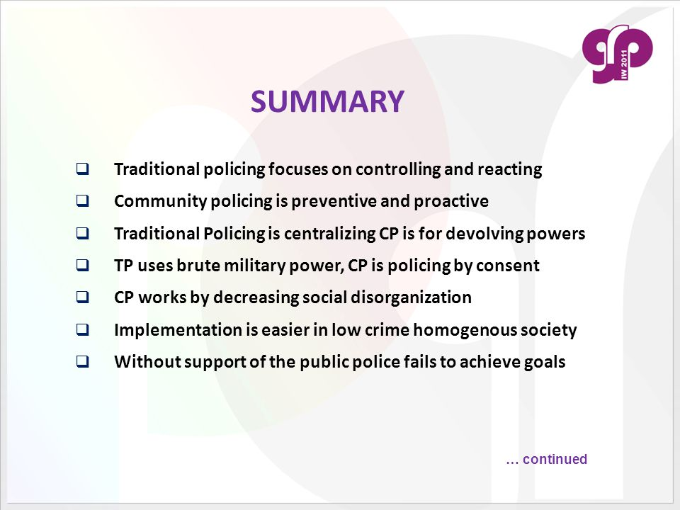 traditional policing definition