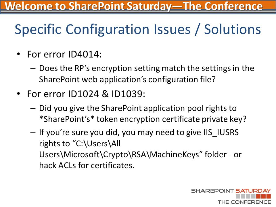 Welcome to SharePoint Saturday—The Conference - ppt download