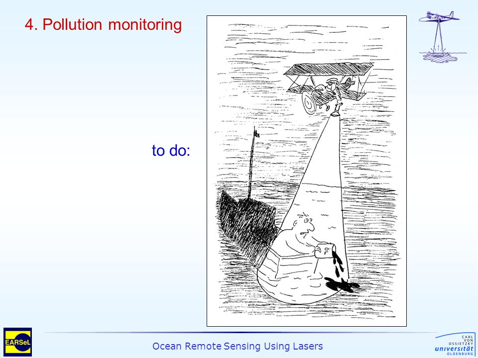 4. Pollution monitoring to do: