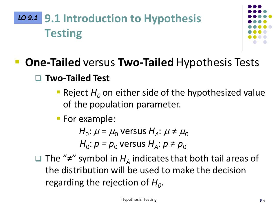 9.1 Introduction to Hypothesis Testing