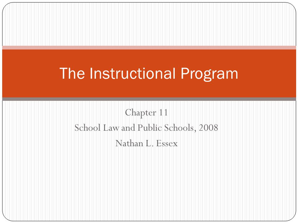 The Instructional Program