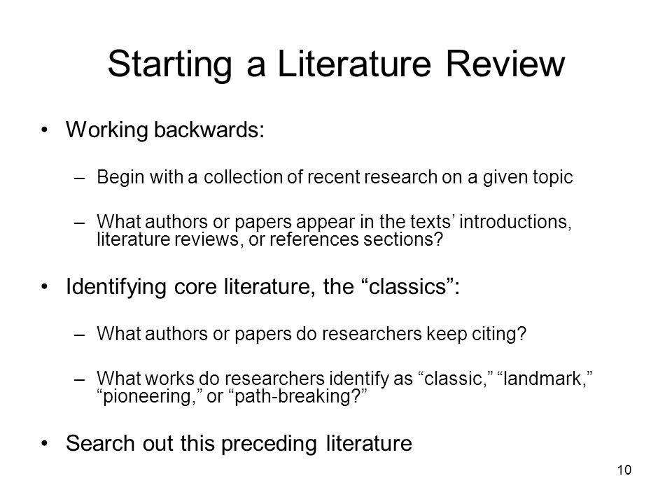 how to do a literature review pdf