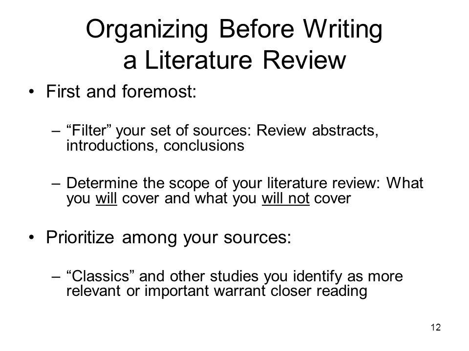 how do i write a literature review