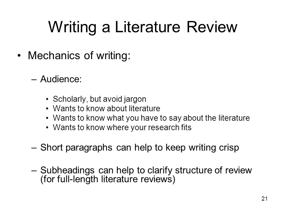academic literature review sample