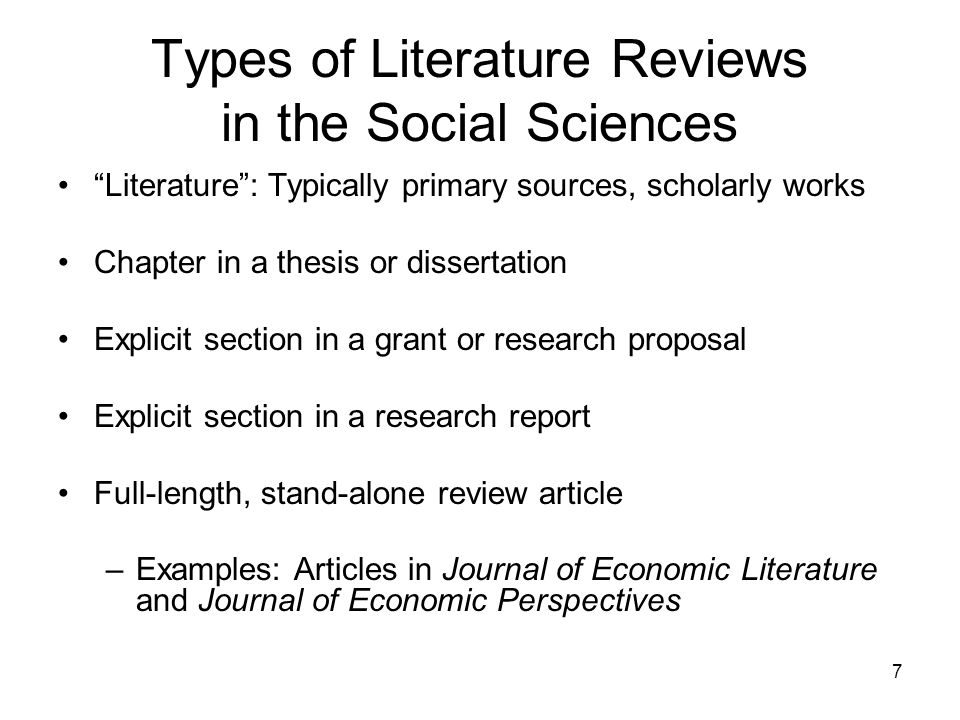 literature review thesis