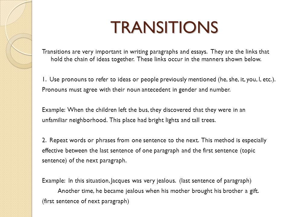 transition words for essays between paragraphs  transition