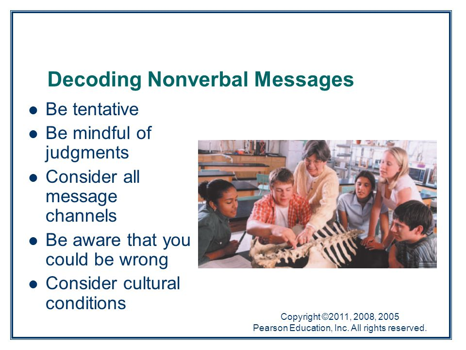 Decoding Nonverbal Messages