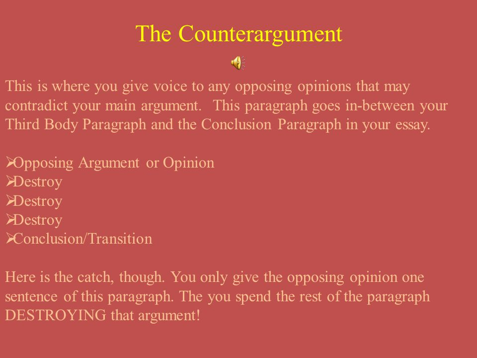 The Counterargument