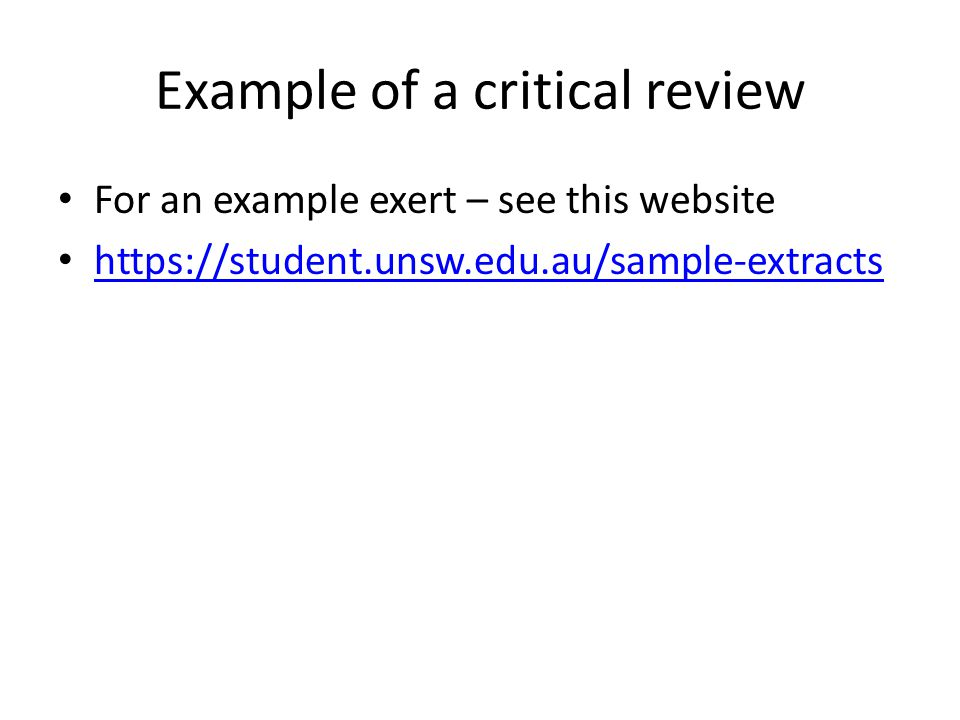 example critical review