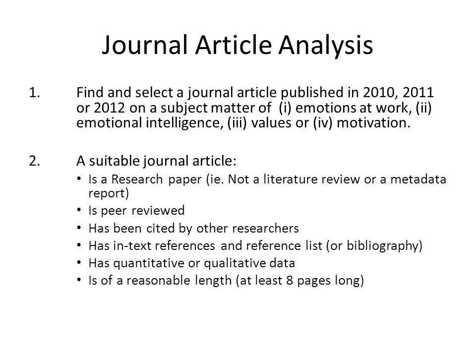 journal article analysis essay Report this essay similar essays journal article analysis.