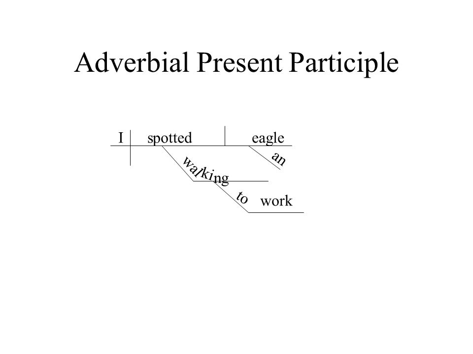 Adverbial Present Participle