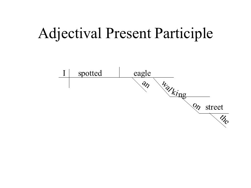 Adjectival Present Participle