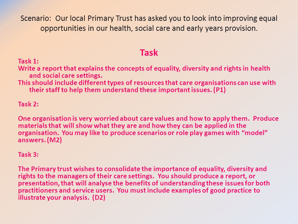 champion equality and diversity essay Equality and diversity essay example p1) define the following words/concepts, using the correct terminology connect each with an appropriate legislation, charter or rights, giving brief explanation of how it protects individuals and society.