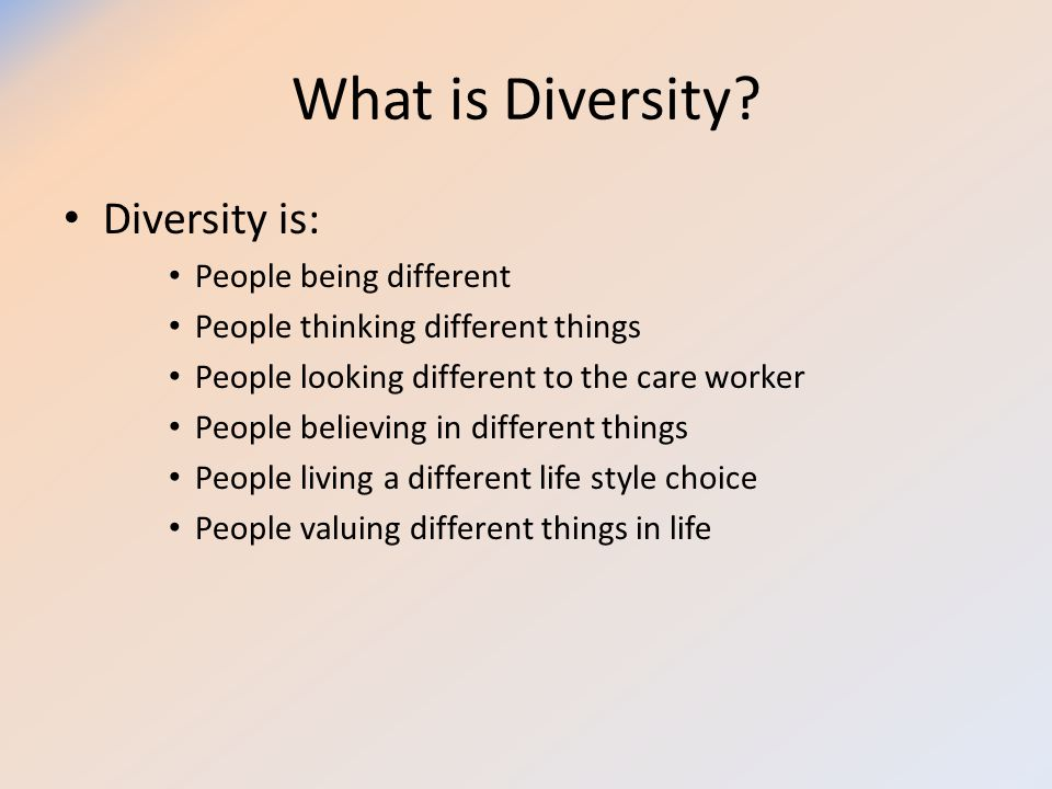 Understand the concepts of equality, diversity and rights in