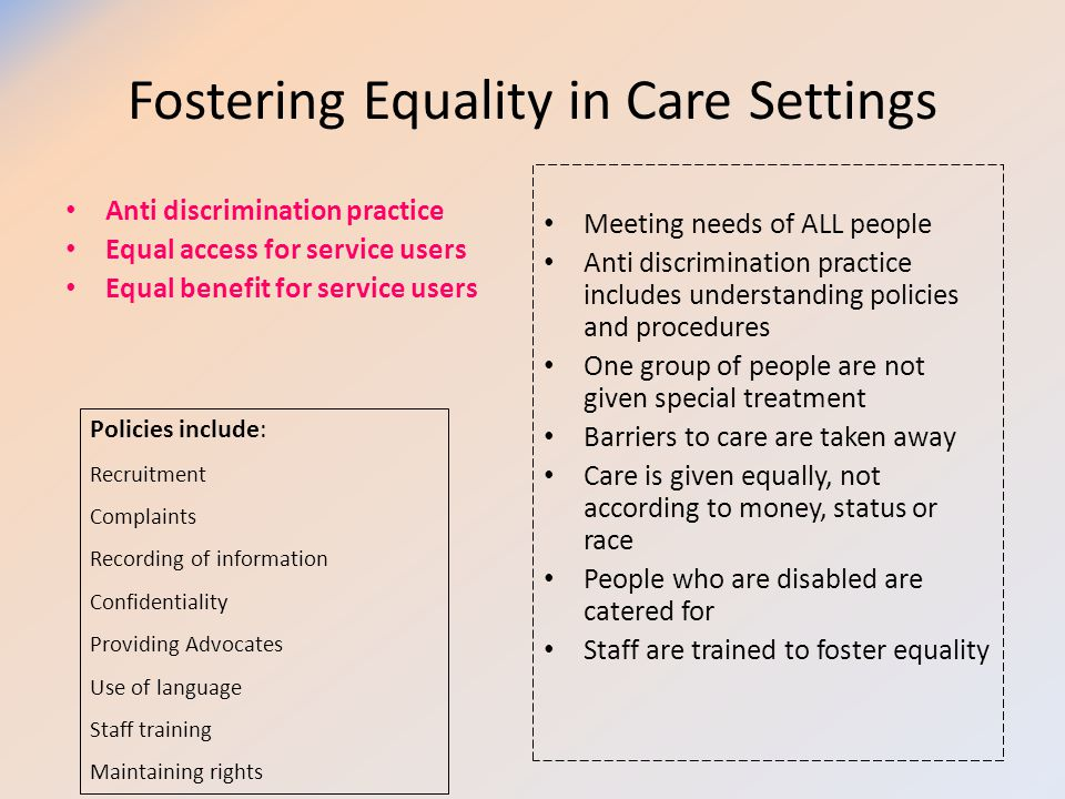 what are policies and procedures in health and social care