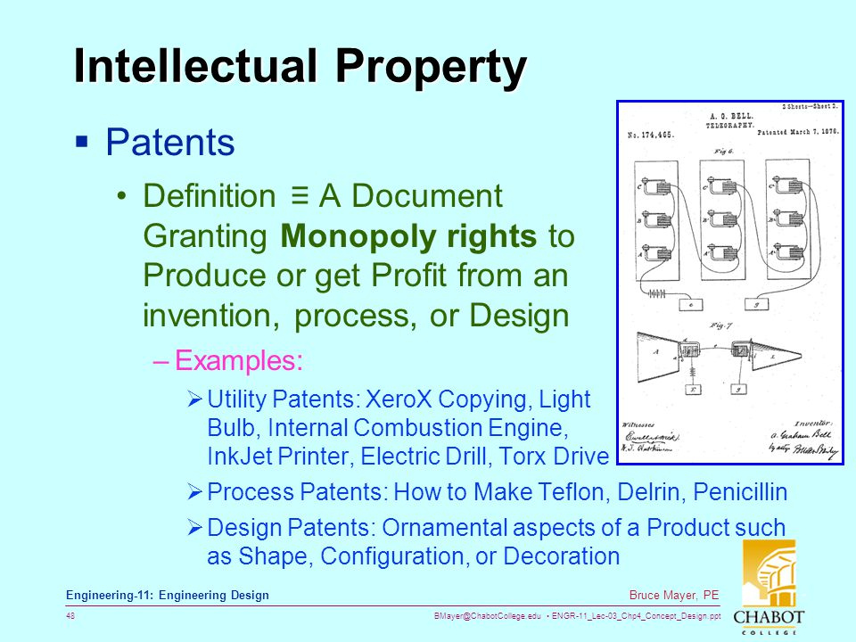 Definition Intellectual Property In Manufacturing