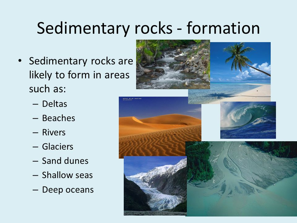 Sedimentary rocks - formation