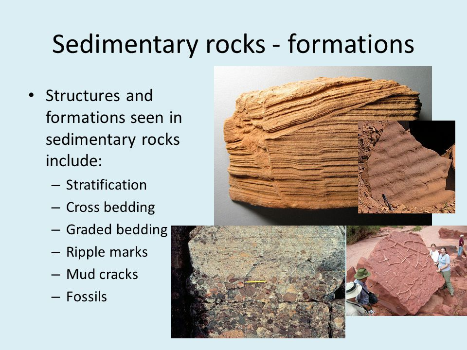 Sedimentary rocks - formations