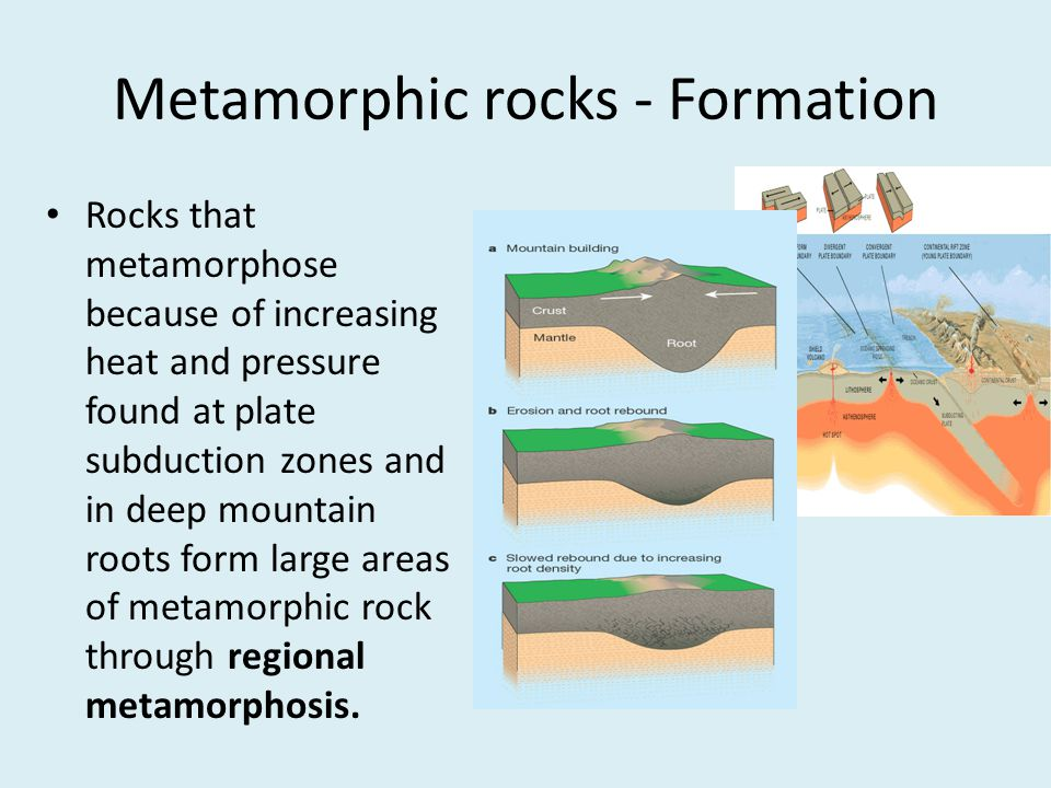 Metamorphic rocks - Formation