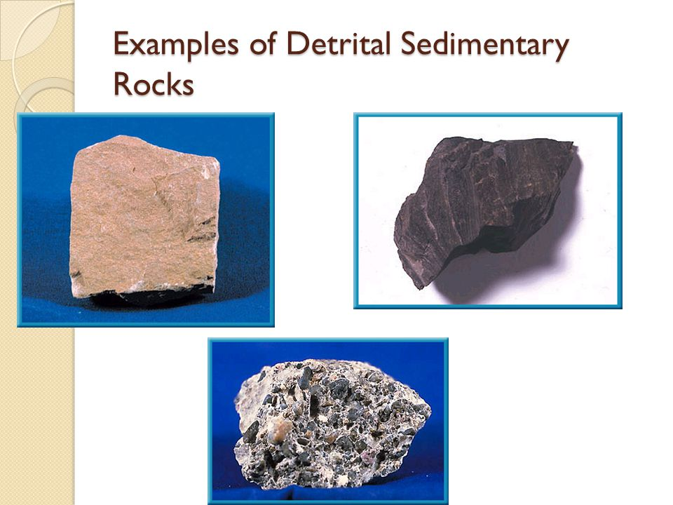 Detrital rocks.