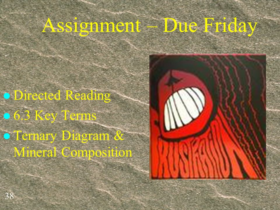 Assignment – Due Friday