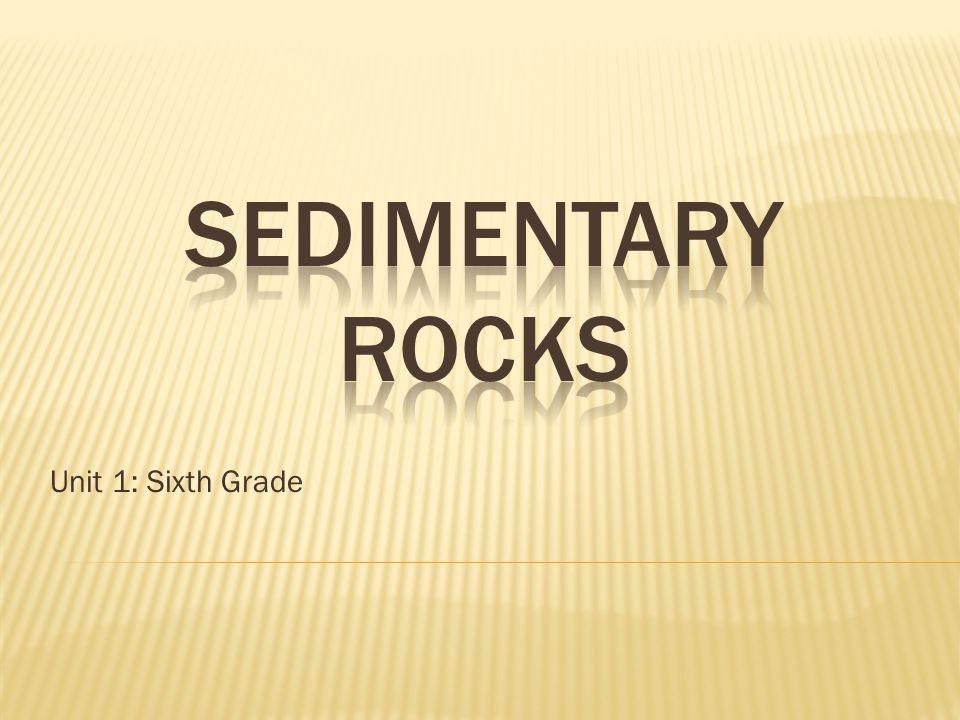 SEDIMENTARY ROCKS Unit 1: Sixth Grade. - ppt download