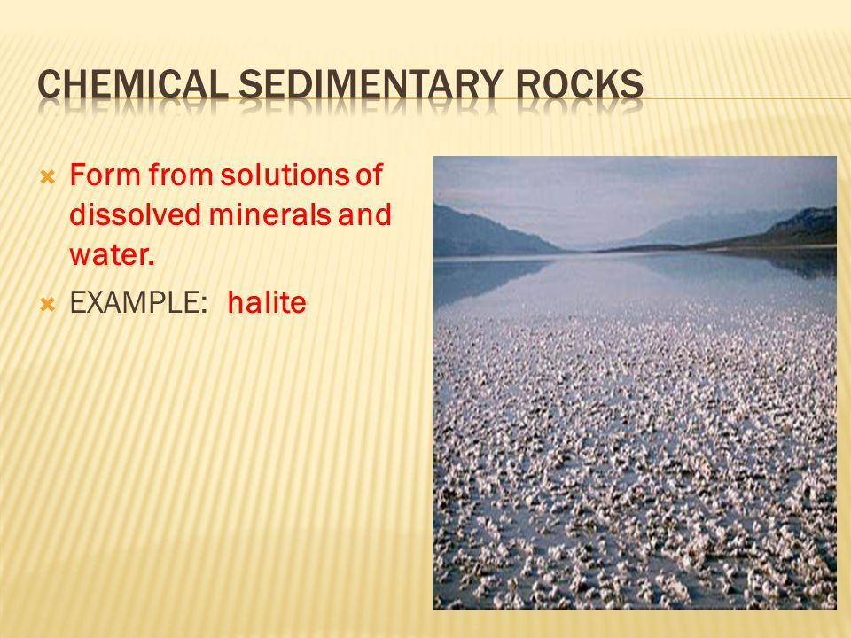 Chemical sedimentary rocks