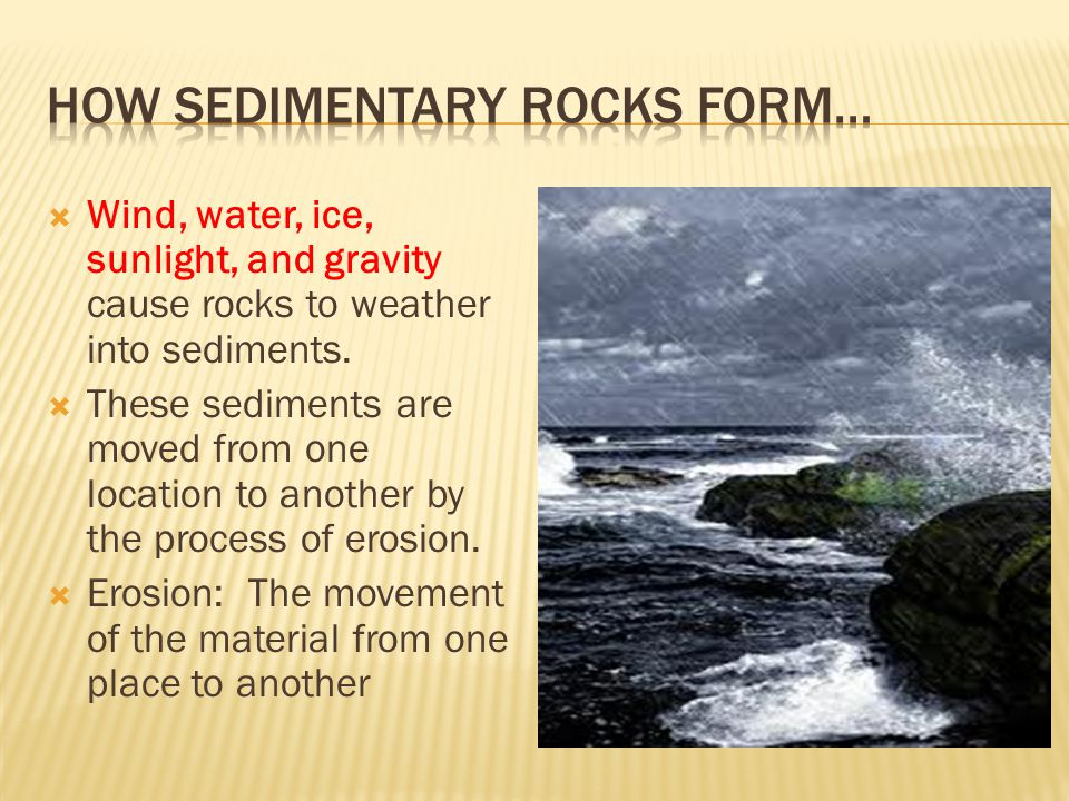 How sedimentary rocks form…
