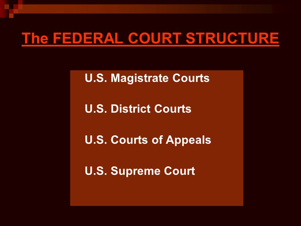 The FEDERAL COURT STRUCTURE