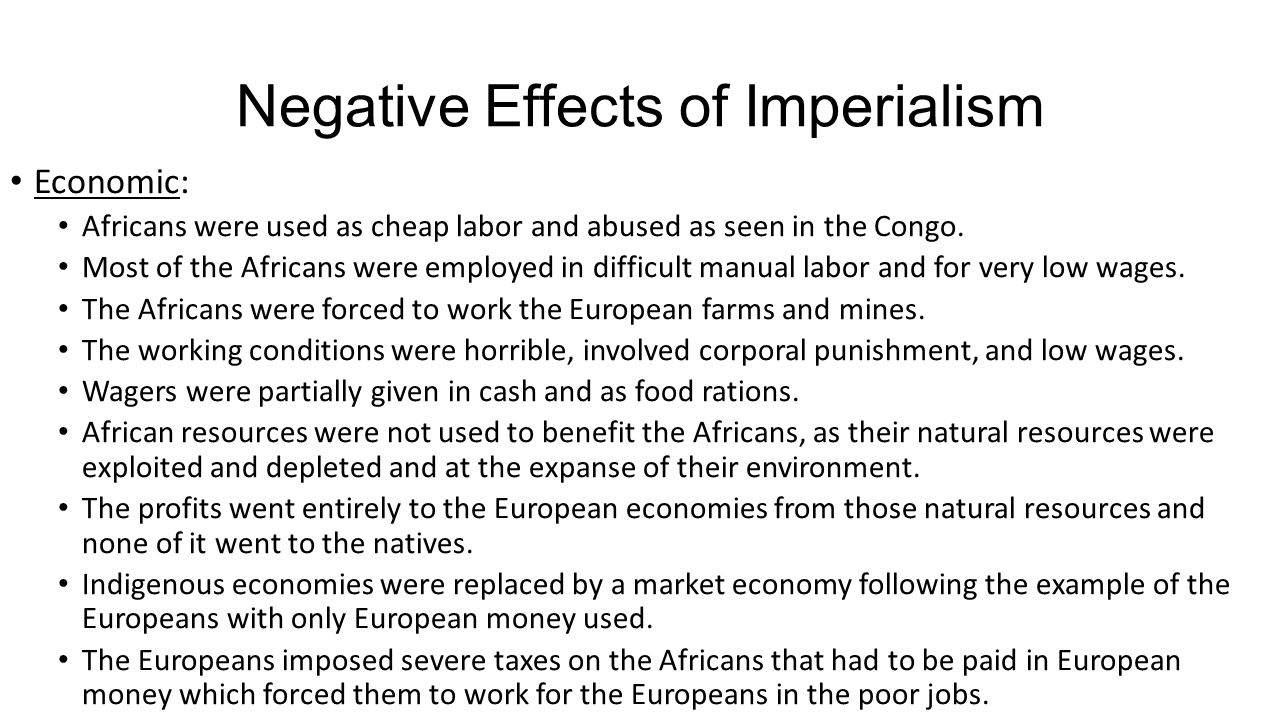 positive effects of imperialism in africa