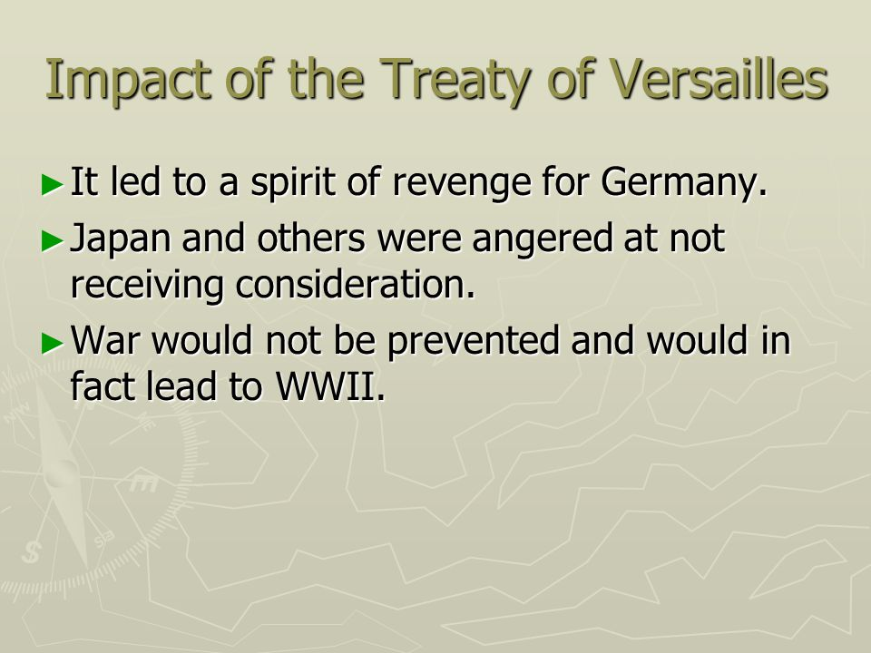Impact of the Treaty of Versailles