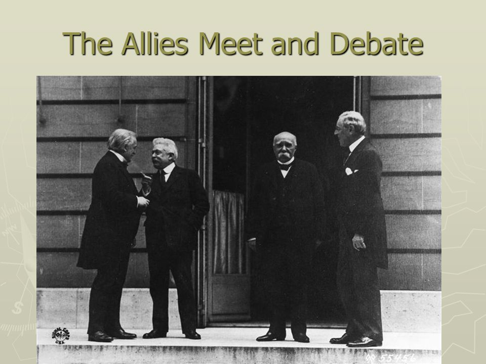 The Allies Meet and Debate