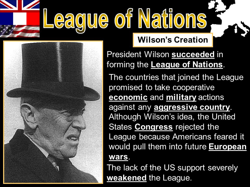 League of Nations Wilson's Creation