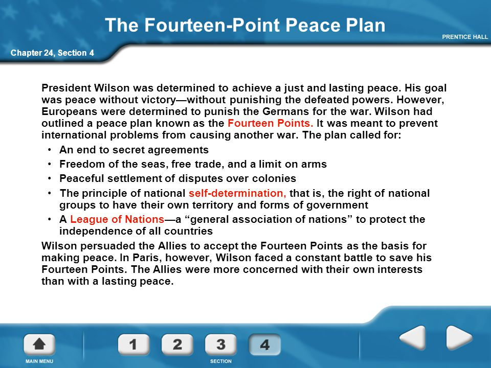 The Fourteen-Point Peace Plan